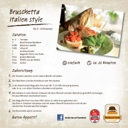Unser Huth Rezept für Sie: Bruschetta italien style