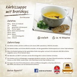 Unser Huth-Rezept für Sie: Kürbissuppe mit Brotchips